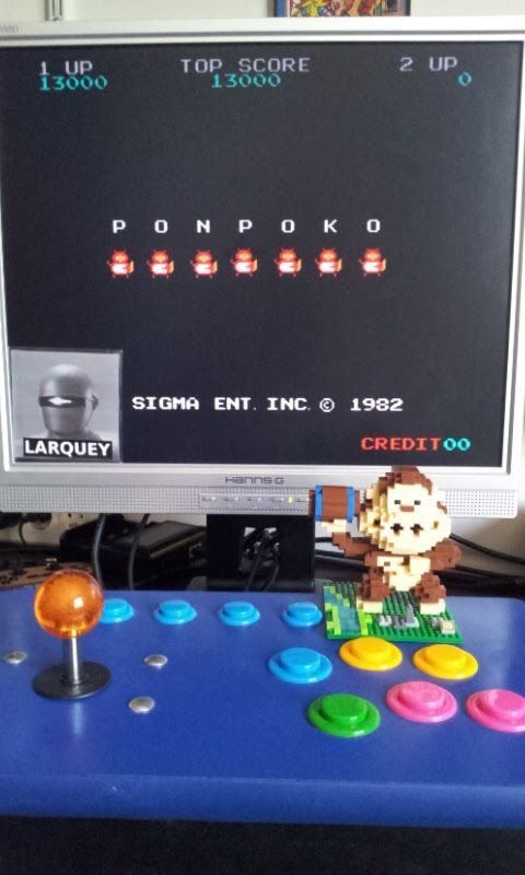 Larquey: Ponpoko (Arcade Emulated / M.A.M.E.) 13,000 points on 2017-07-02 09:39:21