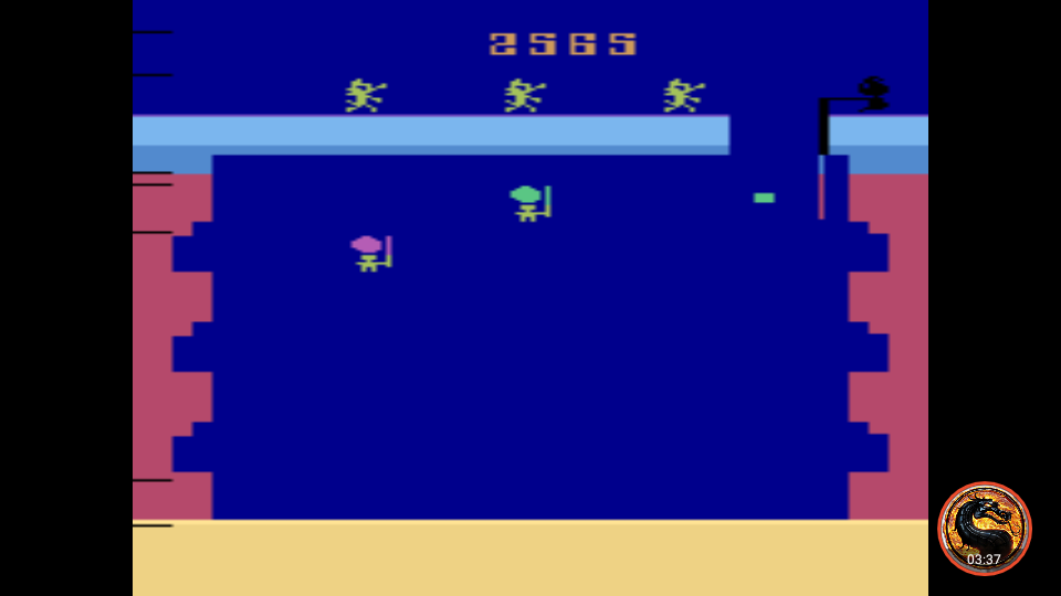 omargeddon: Pooyan (Atari 2600 Emulated Novice/B Mode) 2,565 points on 2019-11-22 10:07:26