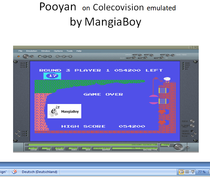 MangiaBoy: Pooyan (Colecovision Emulated) 54,200 points on 2019-01-01 05:31:23