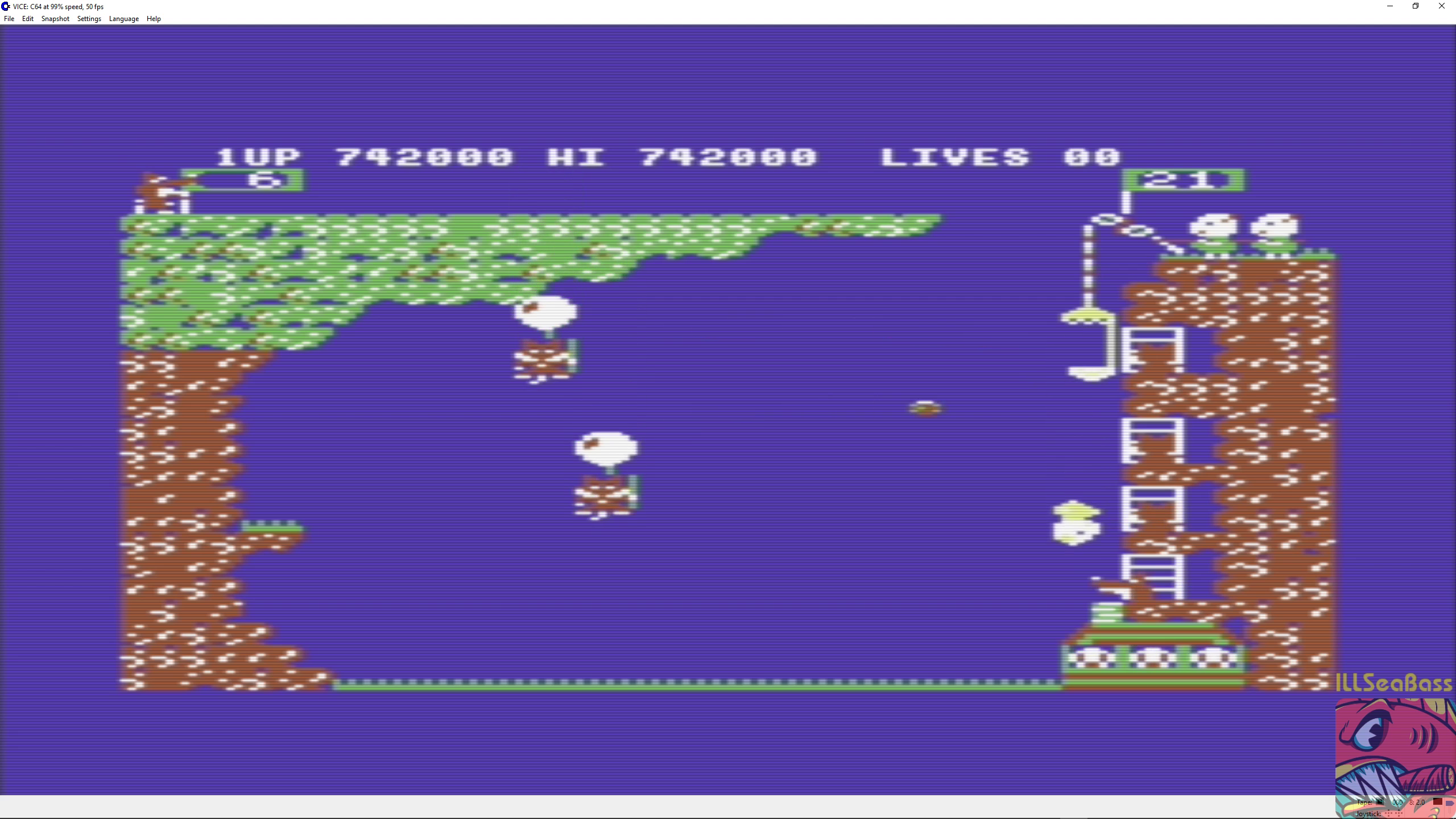 ILLSeaBass: Pooyan (Commodore 64 Emulated) 742,000 points on 2018-09-05 10:55:05
