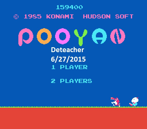 Deteacher: Pooyan (NES/Famicom Emulated) 159,400 points on 2015-06-27 15:21:53