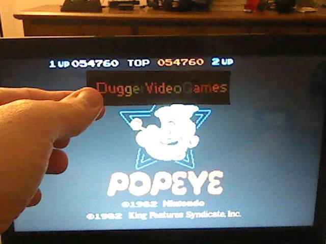 DuggerVideoGames: Popeye (Arcade Emulated / M.A.M.E.) 54,760 points on 2017-09-01 04:05:31