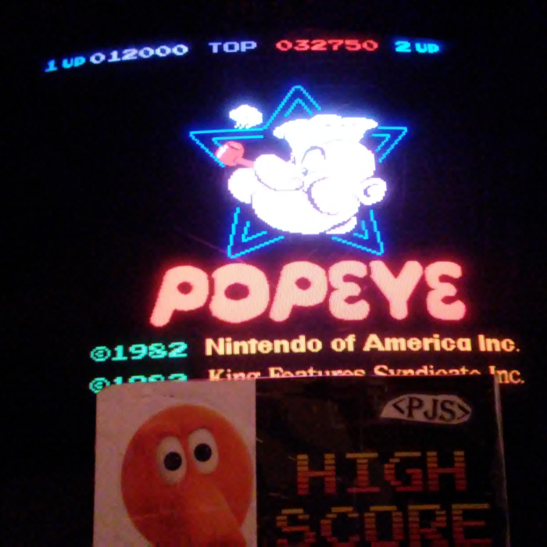 Popeye 32,750 points