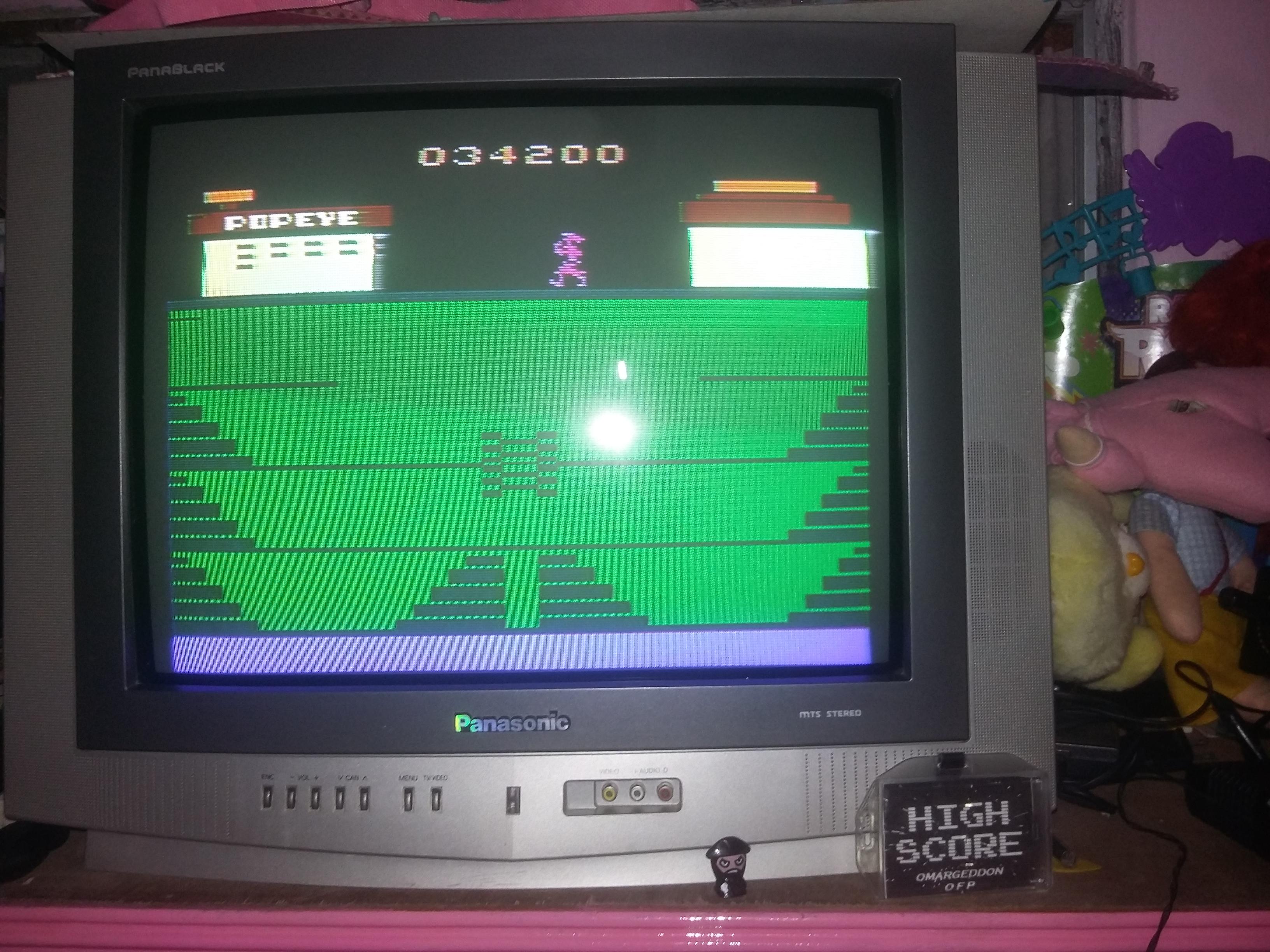 omargeddon: Popeye (Atari 2600) 34,200 points on 2016-12-20 00:03:47