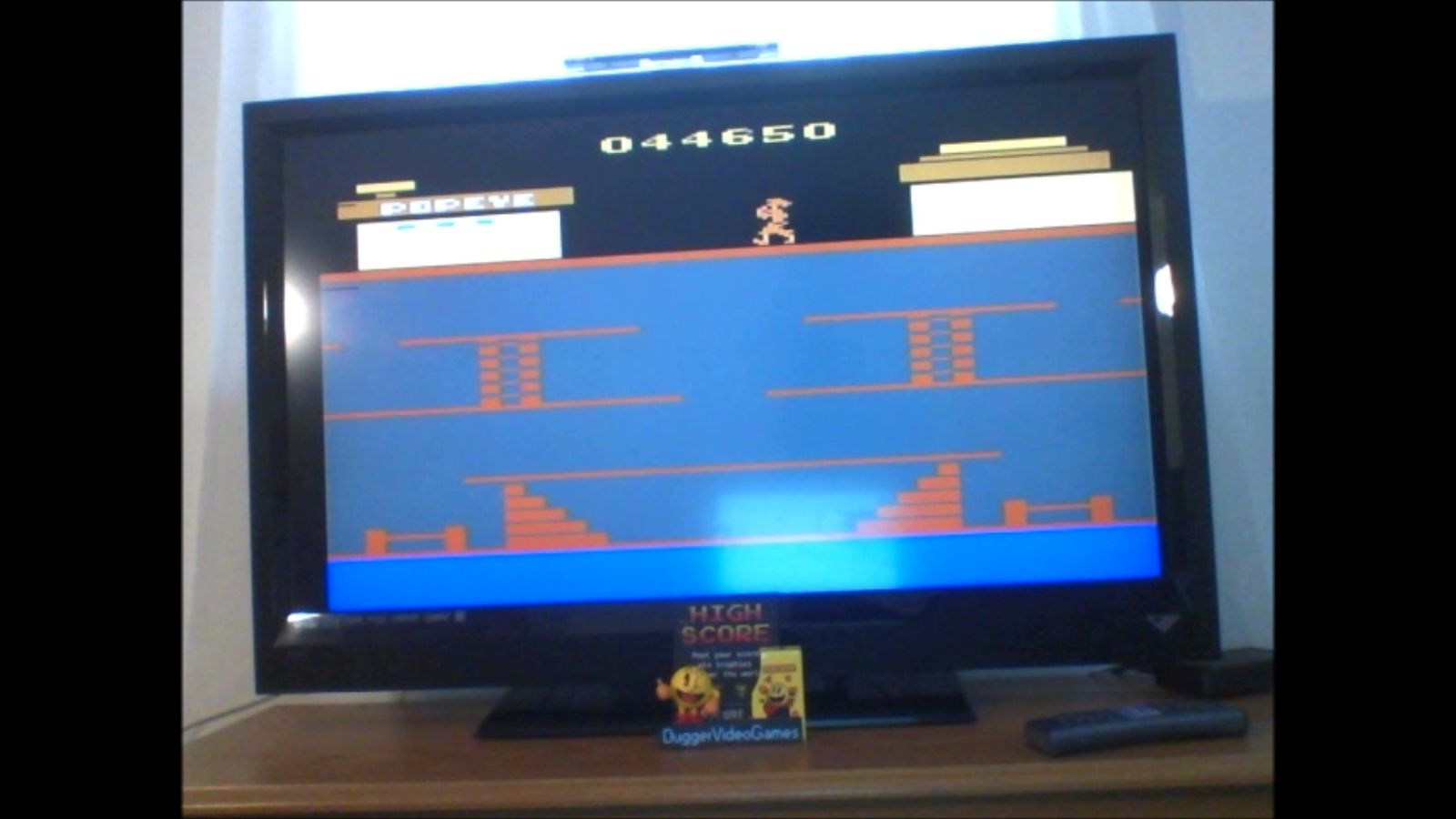 DuggerVideoGames: Popeye (Atari 2600 Emulated) 44,650 points on 2017-01-22 12:48:23