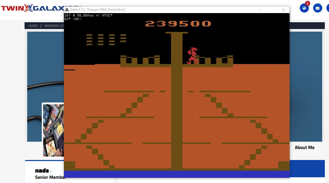 nads: Popeye (Atari 2600 Emulated) 239,500 points on 2017-05-17 04:21:39