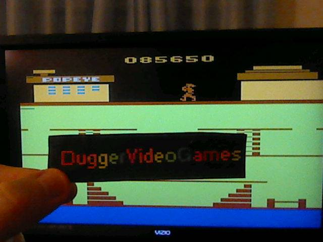 DuggerVideoGames: Popeye (Atari 2600 Emulated) 85,650 points on 2017-12-27 16:56:46