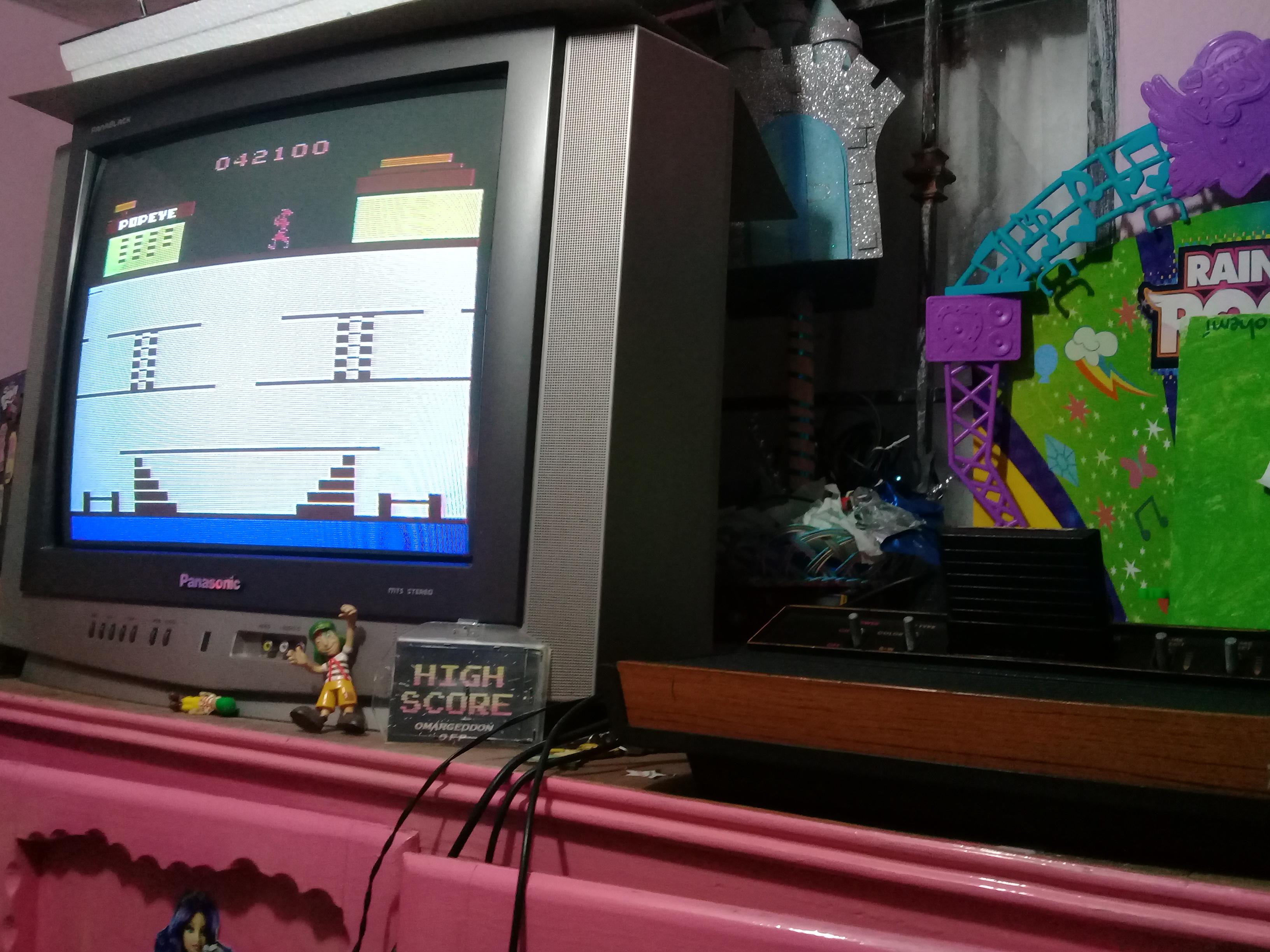 omargeddon: Popeye (Atari 2600) 42,100 points on 2019-01-08 17:24:59