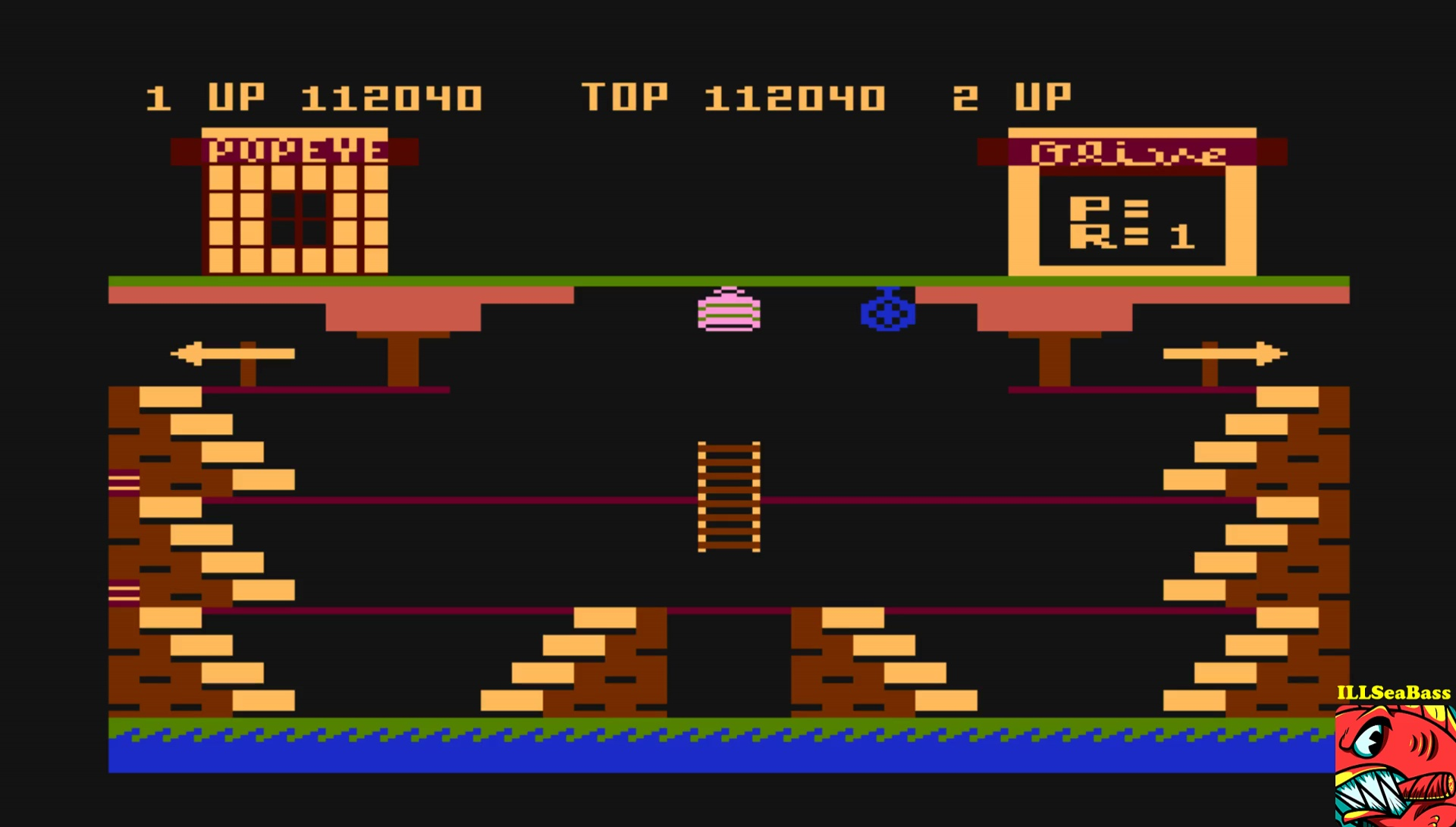 ILLSeaBass: Popeye (Atari 400/800/XL/XE Emulated) 112,040 points on 2017-05-15 20:49:29