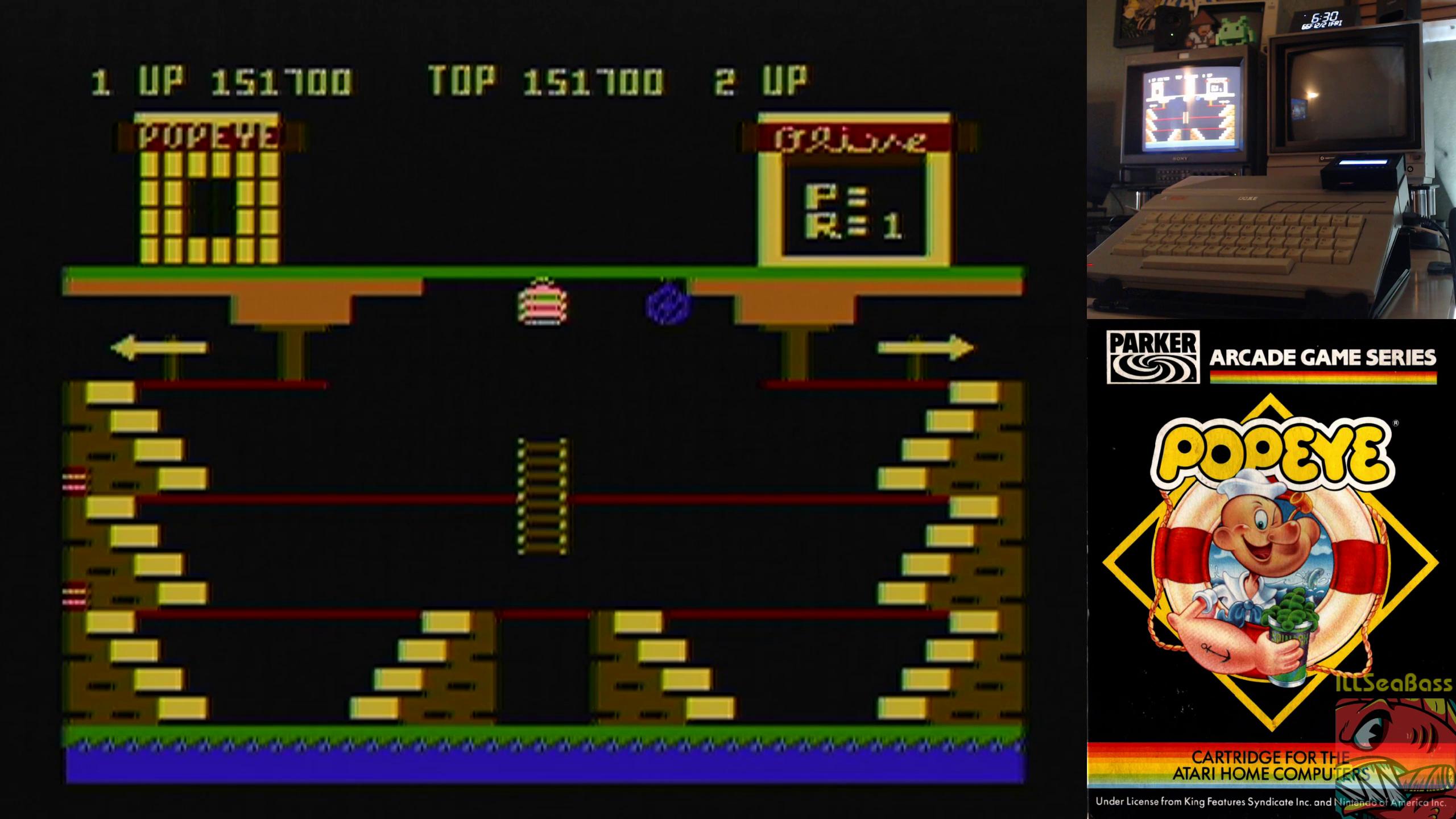 ILLSeaBass: Popeye (Atari 400/800/XL/XE) 151,700 points on 2018-12-21 21:47:11
