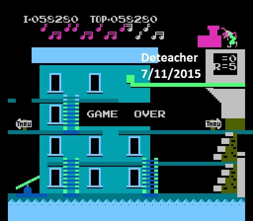 Deteacher: Popeye: Game B (NES/Famicom Emulated) 58,280 points on 2015-07-11 09:14:31
