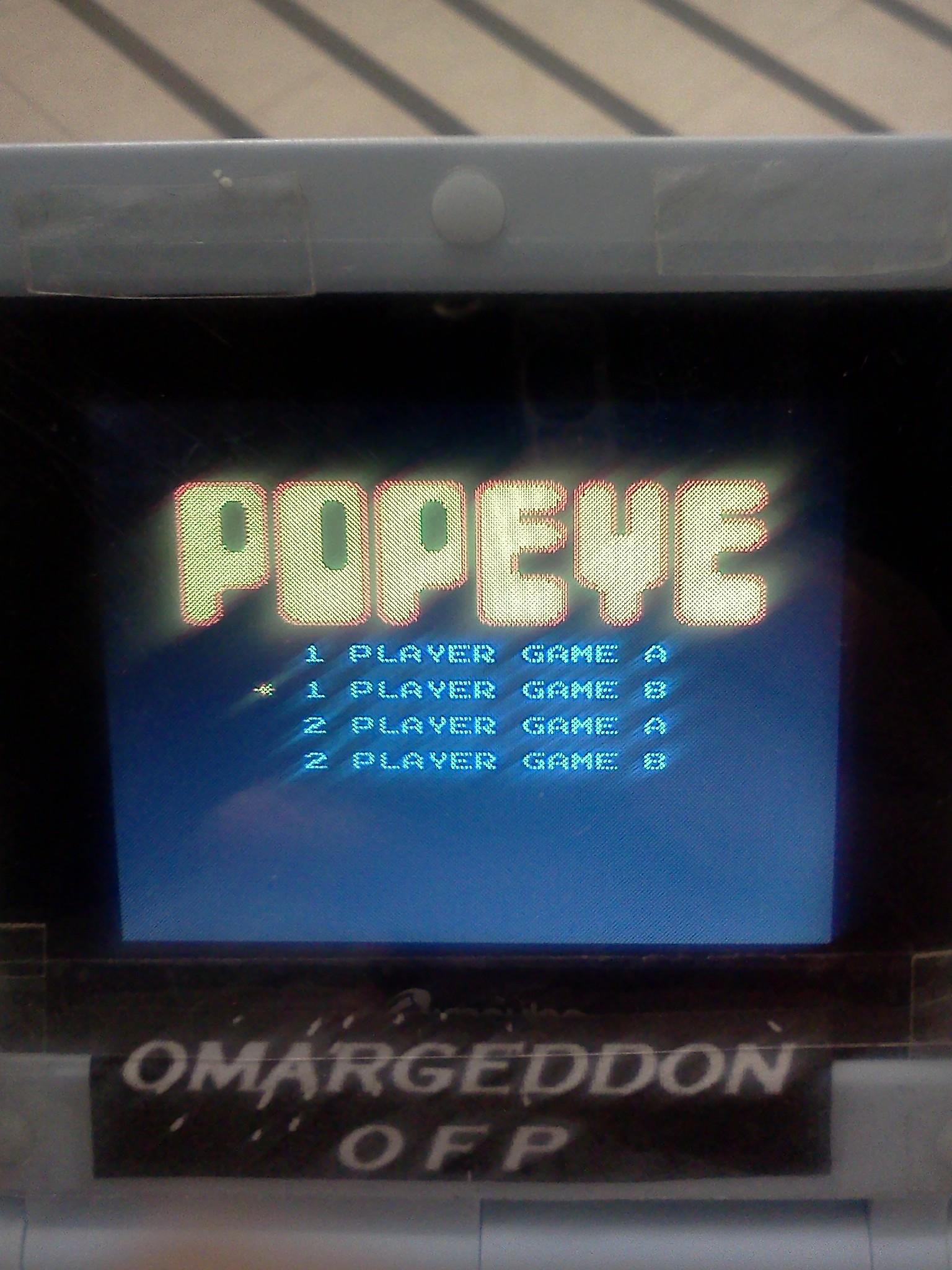 omargeddon: Popeye: Game B (NES/Famicom Emulated) 75,200 points on 2016-08-26 19:49:54