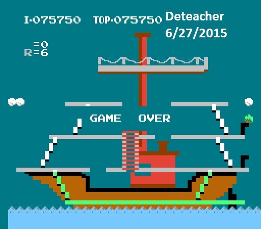 Deteacher: Popeye (NES/Famicom Emulated) 75,750 points on 2015-06-27 14:36:58