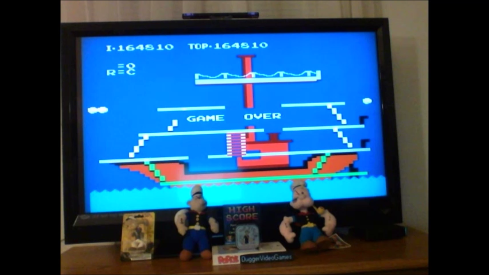 DuggerVideoGames: Popeye (NES/Famicom Emulated) 164,810 points on 2016-12-29 23:02:07