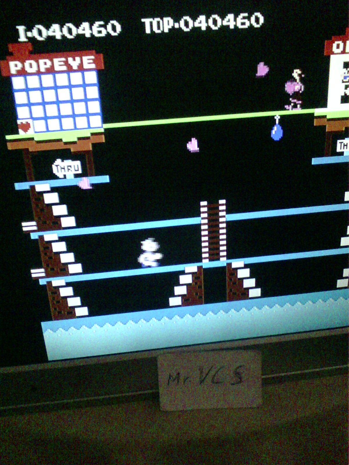 MisterVCS: Popeye (NES/Famicom Emulated) 40,460 points on 2019-08-03 12:10:50