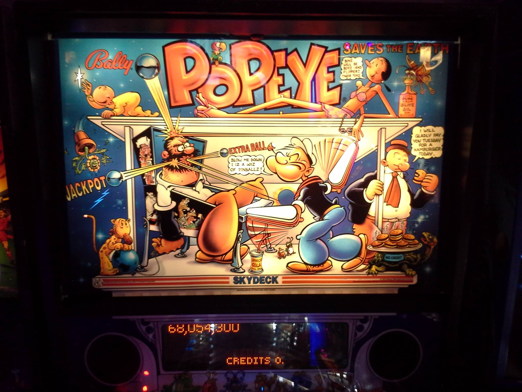 Popeye Saves the Earth 68,054,300 points