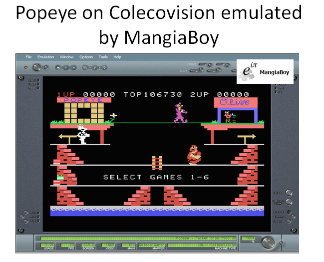 MangiaBoy: Popeye: Skill 1 (Colecovision Emulated) 106,730 points on 2016-03-23 12:12:58