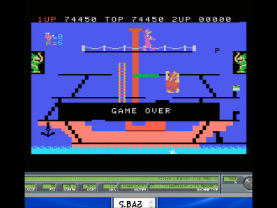 S.BAZ: Popeye: Skill 1 (Colecovision Emulated) 74,450 points on 2017-11-22 11:05:54