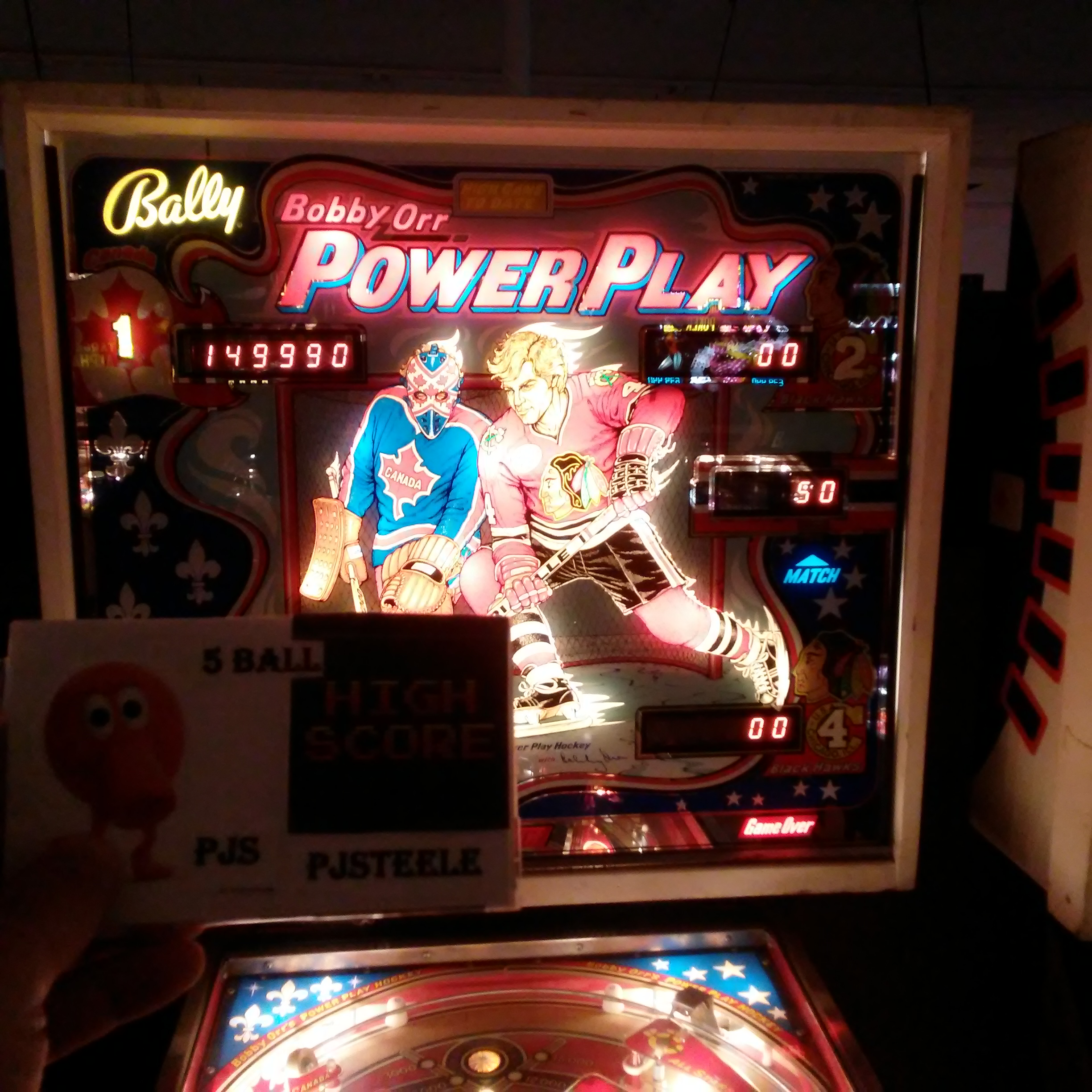 Pjsteele: Power Play [aka Bobby Orr Power Play] (Pinball: 5 Balls) 149,990 points on 2018-03-03 19:01:52