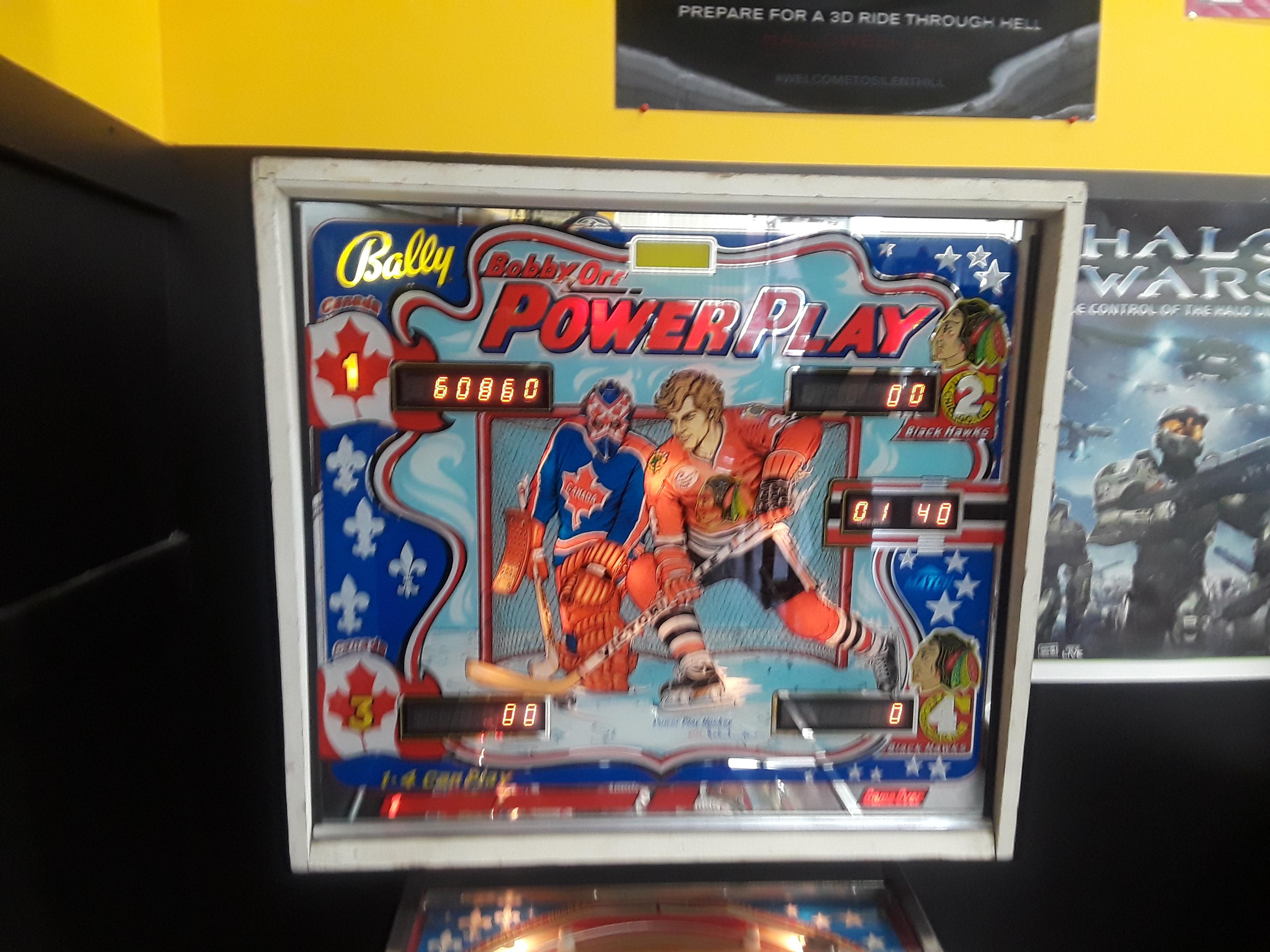 JML101582: Power Play [aka Bobby Orr Power Play] (Pinball: 5 Balls) 60,860 points on 2018-08-04 00:13:06