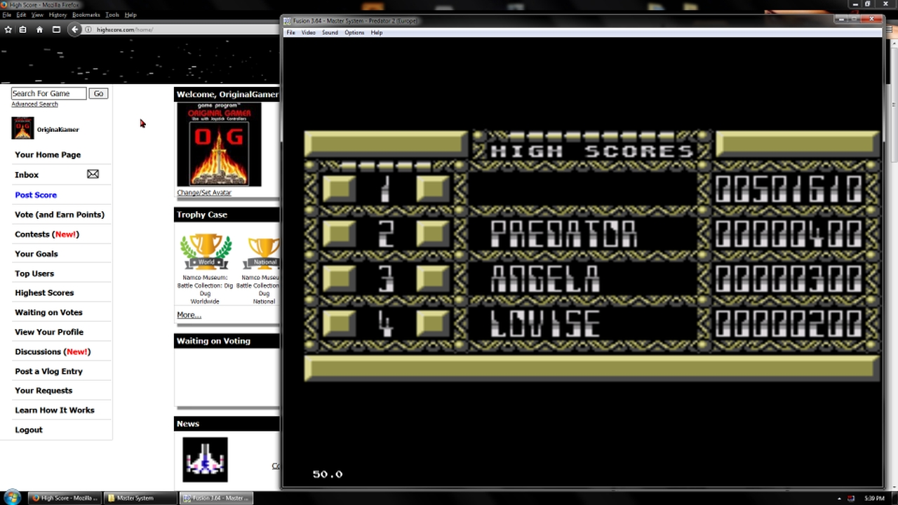 OriginalGamer: Predator 2 (Sega Master System Emulated) 501,610 points on 2018-02-19 18:25:20
