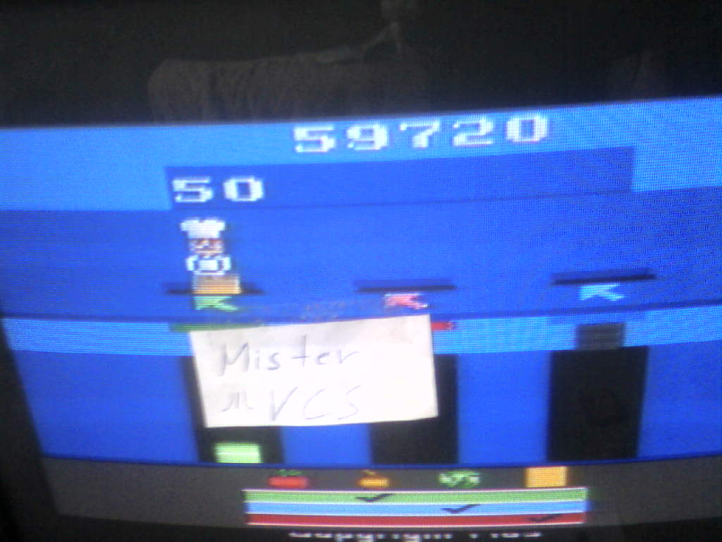 MisterVCS: Pressure Cooker (Atari 2600 Novice/B) 59,720 points on 2016-07-17 02:34:26