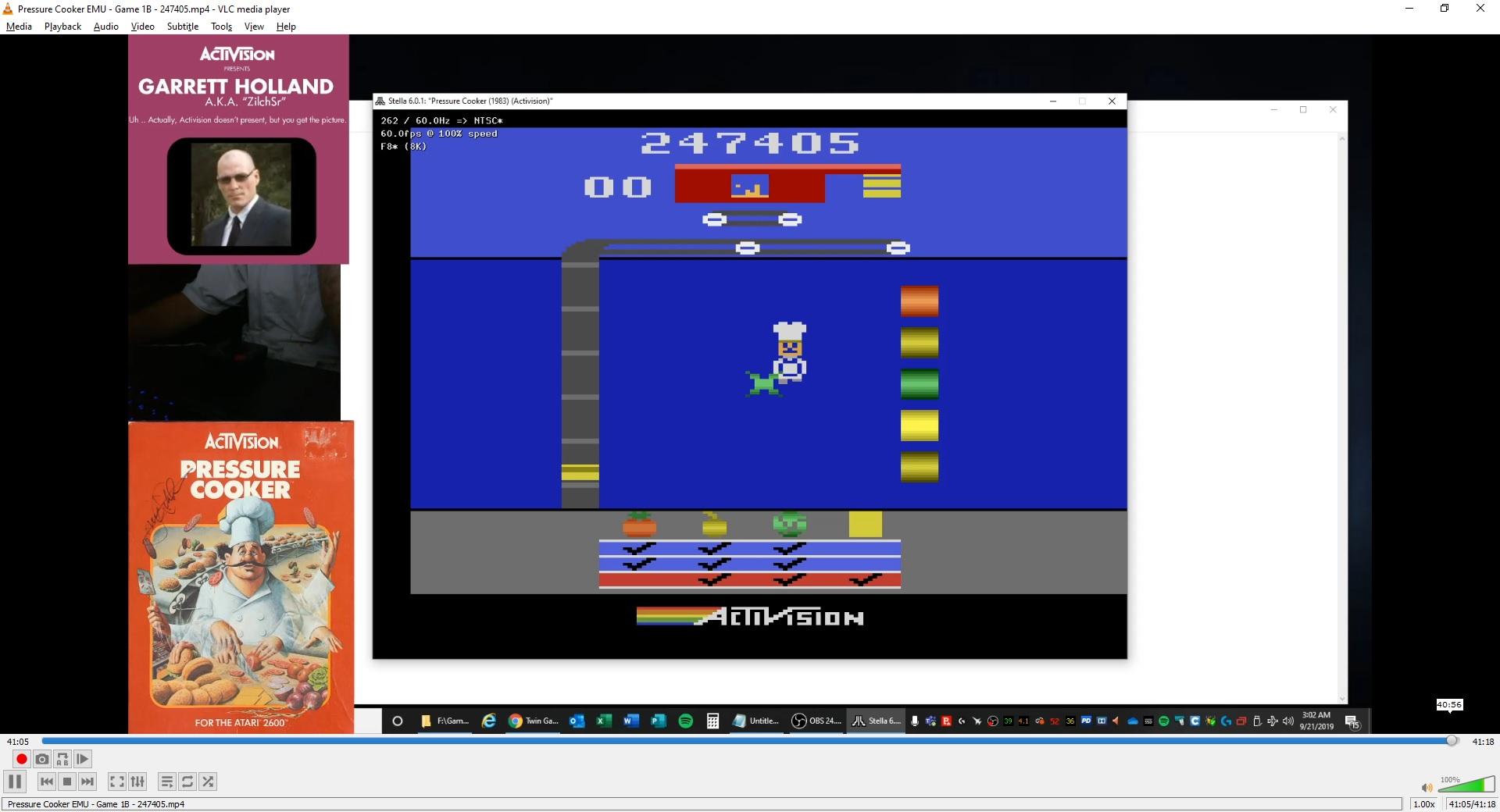 ZilchSr: Pressure Cooker (Atari 2600 Emulated Novice/B Mode) 247,405 points on 2019-09-29 16:38:32