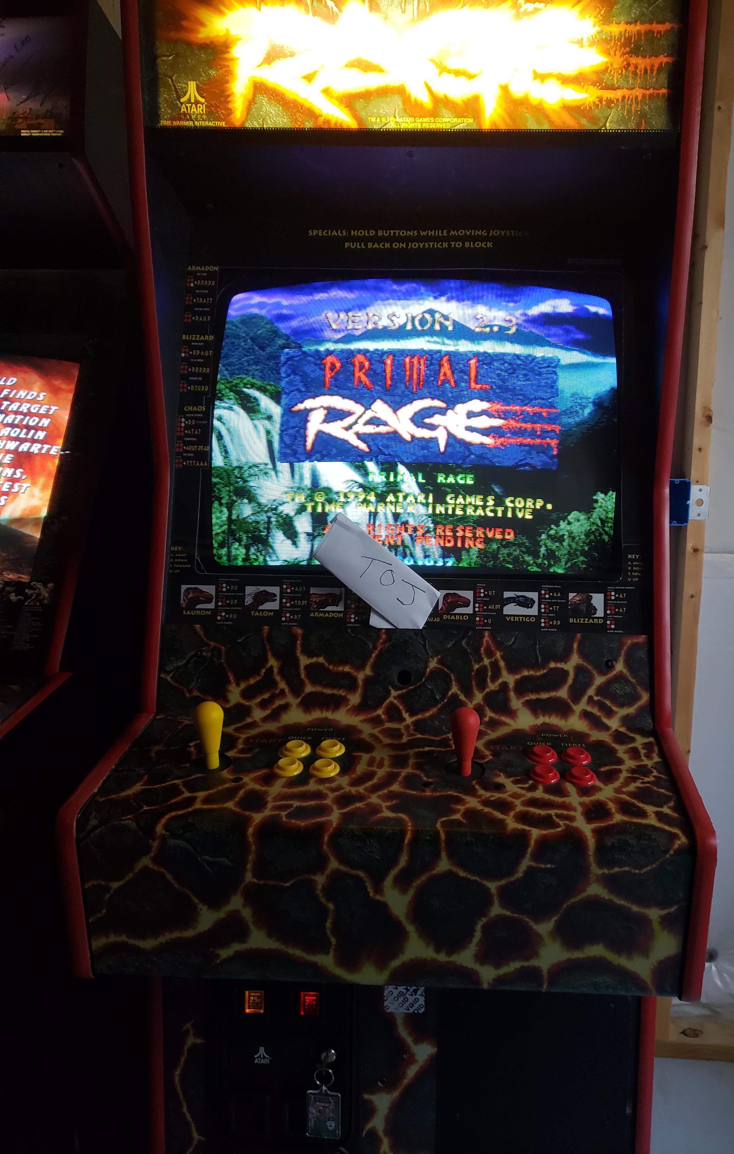 Stryker: Primal Rage (Arcade) 6,215,900 points on 2018-12-07 13:29:00