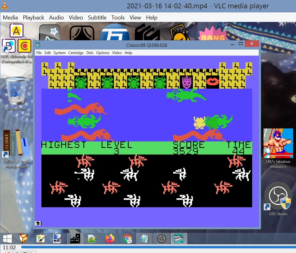 LuigiRuffolo: Princess And Frog (TI 99/4A Emulated) 3,529 points on 2021-03-16 09:28:18