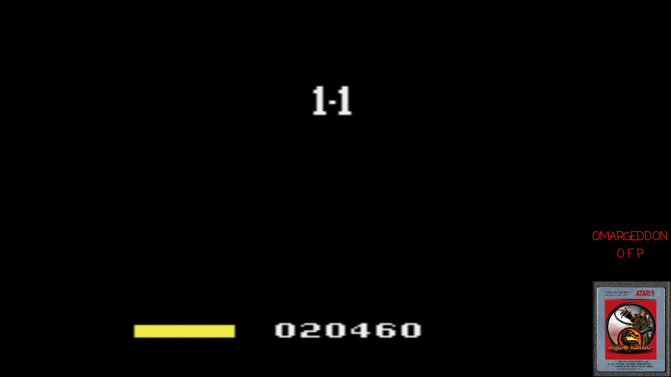 omargeddon: Princess Rescue (Atari 2600 Emulated Novice/B Mode) 20,460 points on 2017-03-21 00:47:40