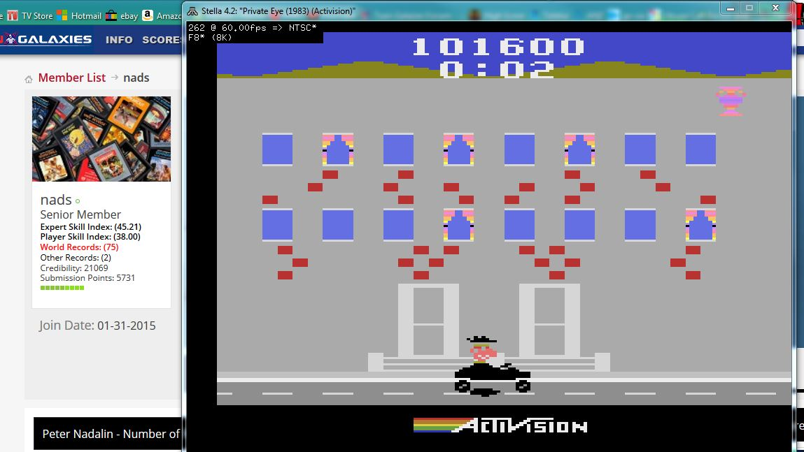 nads: Private Eye: Game 2 (Atari 2600 Emulated Expert/A Mode) 101,600 points on 2016-04-23 01:04:50