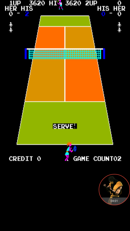 omargeddon: Pro Tennis [DECO Cassette] [cptennis] (Arcade Emulated / M.A.M.E.) 3,620 points on 2017-12-01 01:29:07