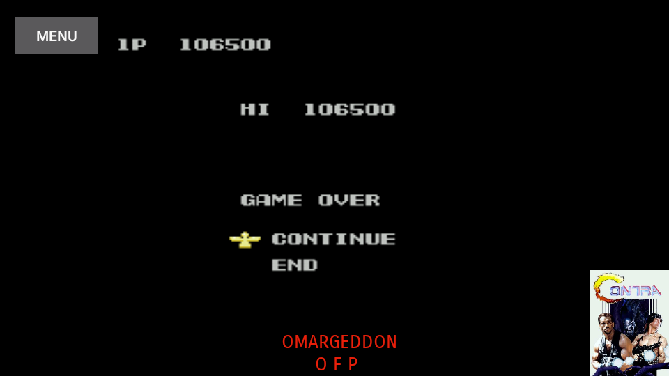 omargeddon: Probotector (NES/Famicom Emulated) 106,500 points on 2017-07-01 15:21:47