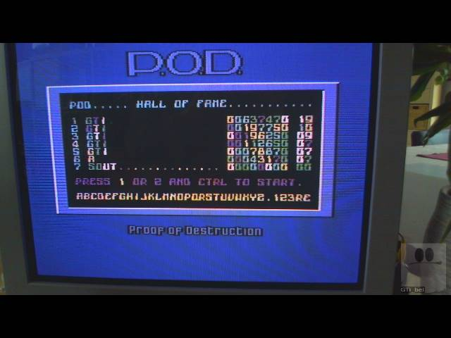 GTibel: Proof of Destruction [P.O.D.] (Commodore 64) 637,470 points on 2019-03-02 07:49:39