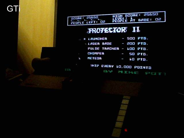 GTibel: Protector II [Synapse Software] [Level 1] (Atari 400/800/XL/XE) 25,650 points on 2017-10-23 13:46:49