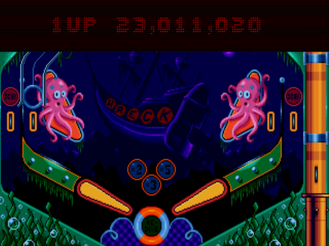 Mantalow: Psycho Pinball: The Abyss [3 Balls/Normal/Game Speed: Normal] (Sega Genesis / MegaDrive Emulated) 23,011,020 points on 2015-06-30 07:24:51