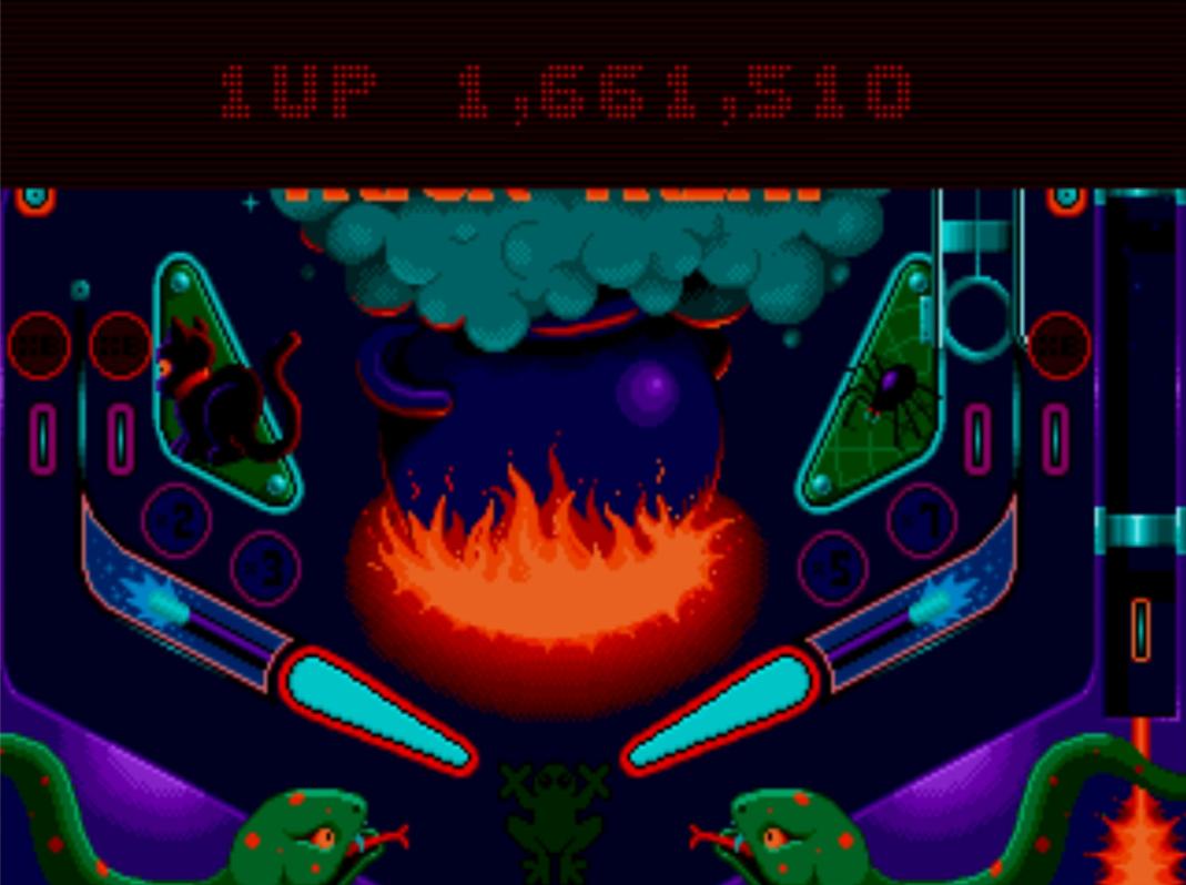 Mantalow: Psycho Pinball: Trick Or Treat [3 Balls/Normal/Game Speed: Normal] (Sega Genesis / MegaDrive Emulated) 1,661,710 points on 2015-06-30 07:27:55
