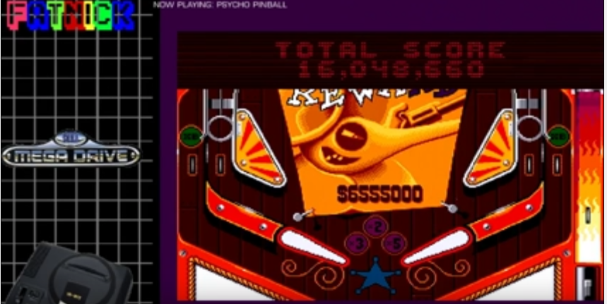 mechafatnick: Psycho Pinball: Wild West [3 Balls/Normal/Game Speed: Normal] (Sega Genesis / MegaDrive) 16,048,660 points on 2016-08-23 16:07:45