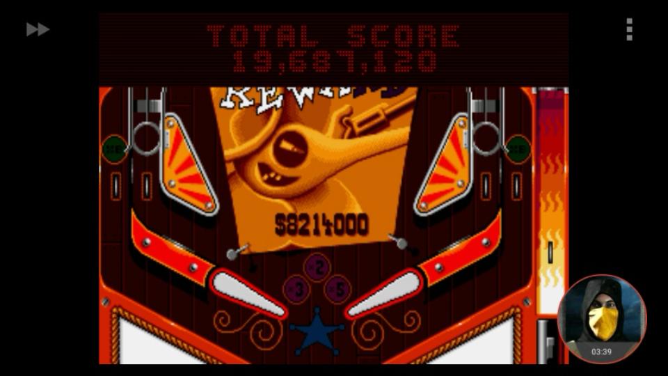 omargeddon: Psycho Pinball: Wild West [3 Balls/Normal/Game Speed: Normal] (Sega Genesis / MegaDrive Emulated) 19,687,120 points on 2018-03-07 11:35:57