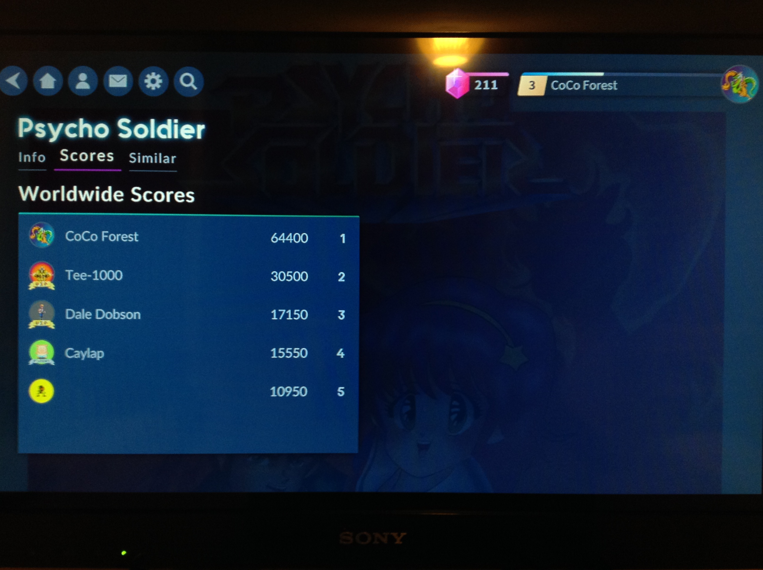 Psycho Soldier 64,400 points