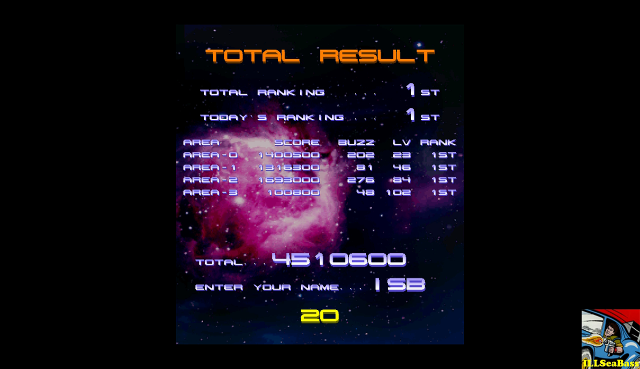 Psyvariar 2: Normal 4,510,600 points