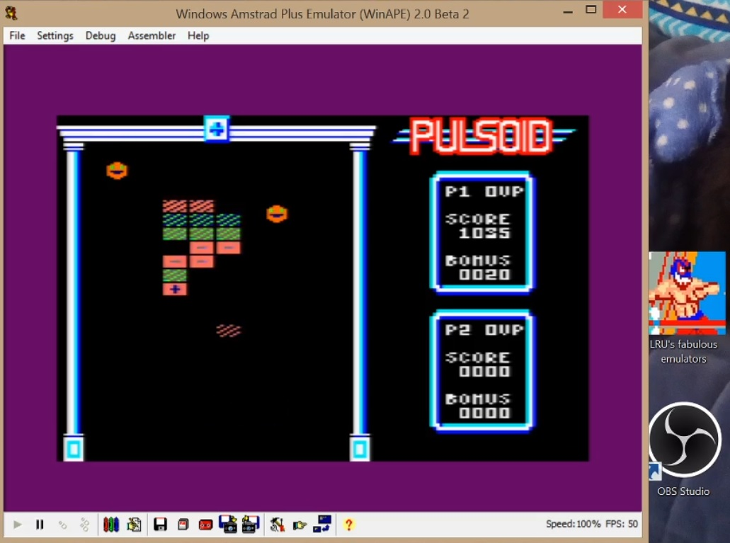 LuigiRuffolo: Pulsoids (Amstrad CPC Emulated) 1,035 points on 2020-08-10 17:37:57