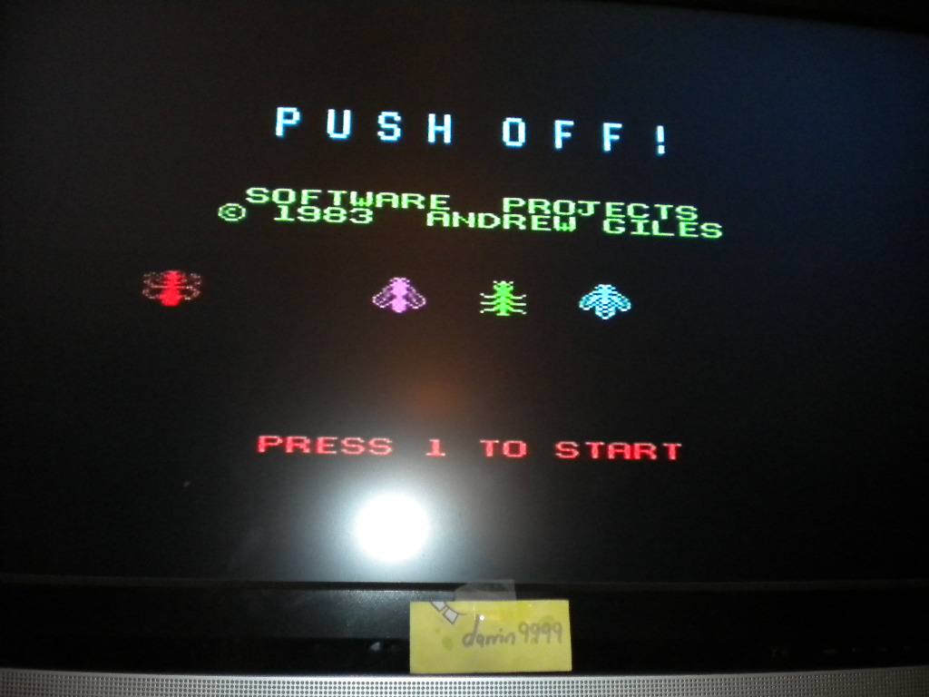 darrin9999: Push Off (ZX Spectrum Emulated) 1,410 points on 2016-08-11 10:40:07