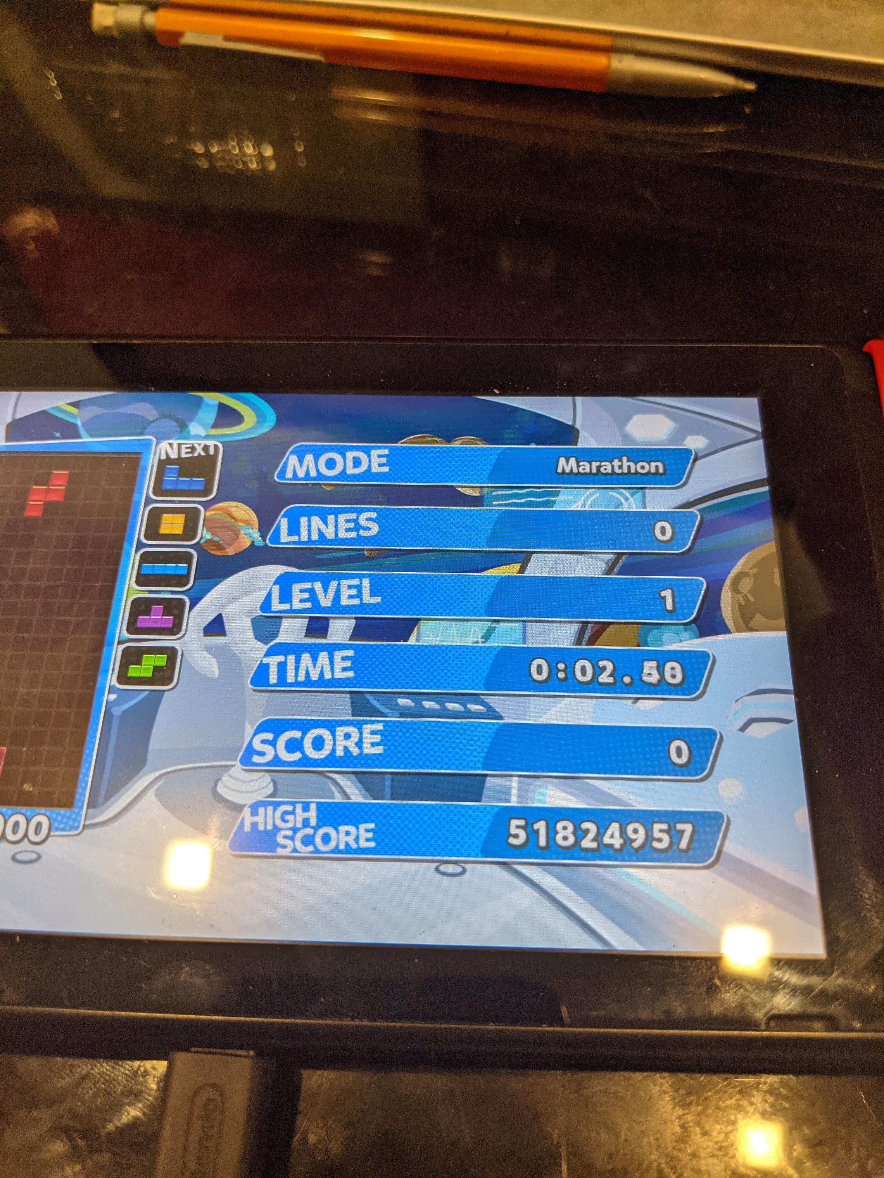 DragonLugia: Puyo Puyo Tetris [Endless Marathon] (Nintendo Switch) 51,824,957 points on 2021-01-23 00:52:02