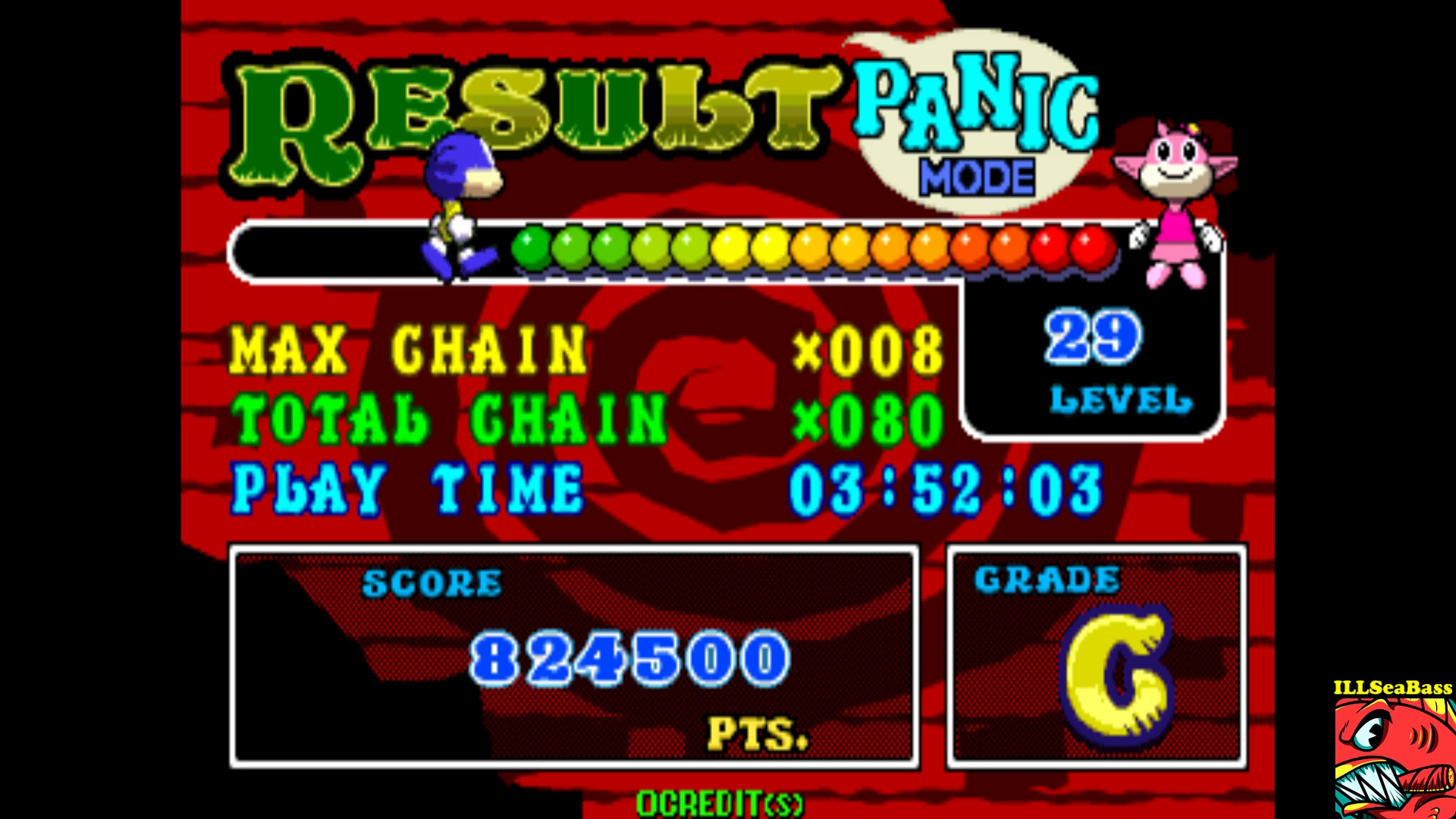 ILLSeaBass: Puzz Loop 2 [Panic Mode] [pzloop2] (Arcade Emulated / M.A.M.E.) 824,500 points on 2017-09-17 21:23:30