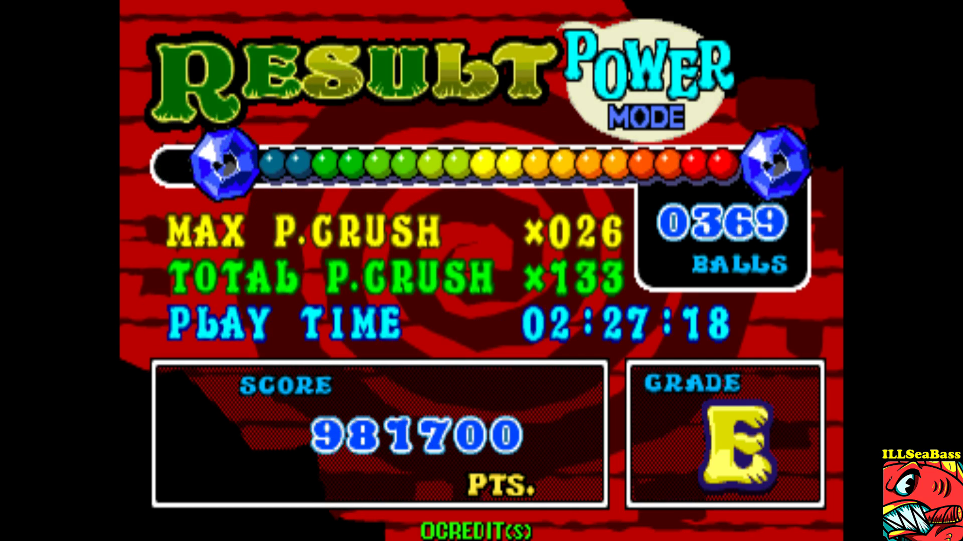 ILLSeaBass: Puzz Loop 2 [Power Mode] [pzloop2] (Arcade Emulated / M.A.M.E.) 981,700 points on 2017-09-17 21:48:08
