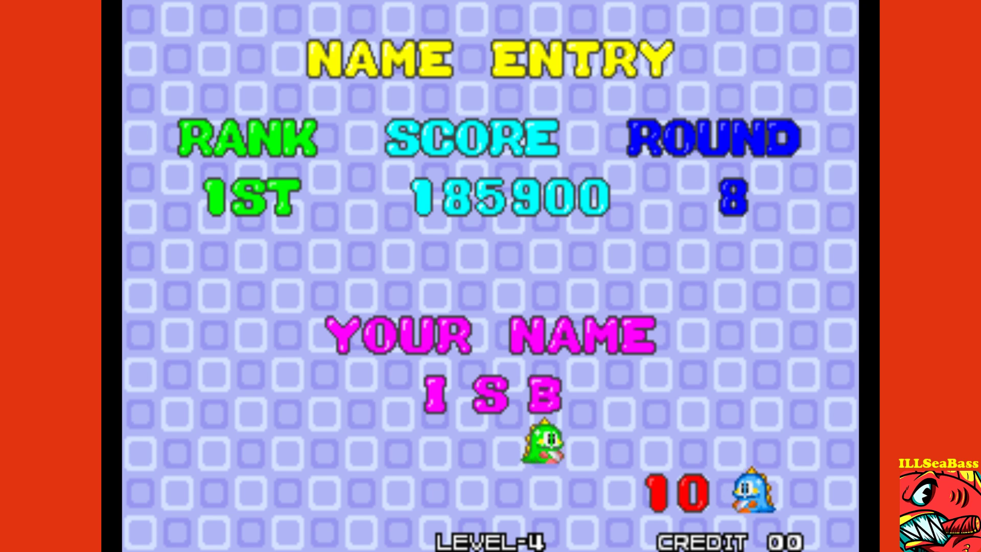 ILLSeaBass: Puzzle Bobble / Bust-A-Move [pbobblen] (Arcade Emulated / M.A.M.E.) 185,900 points on 2017-09-18 21:14:45