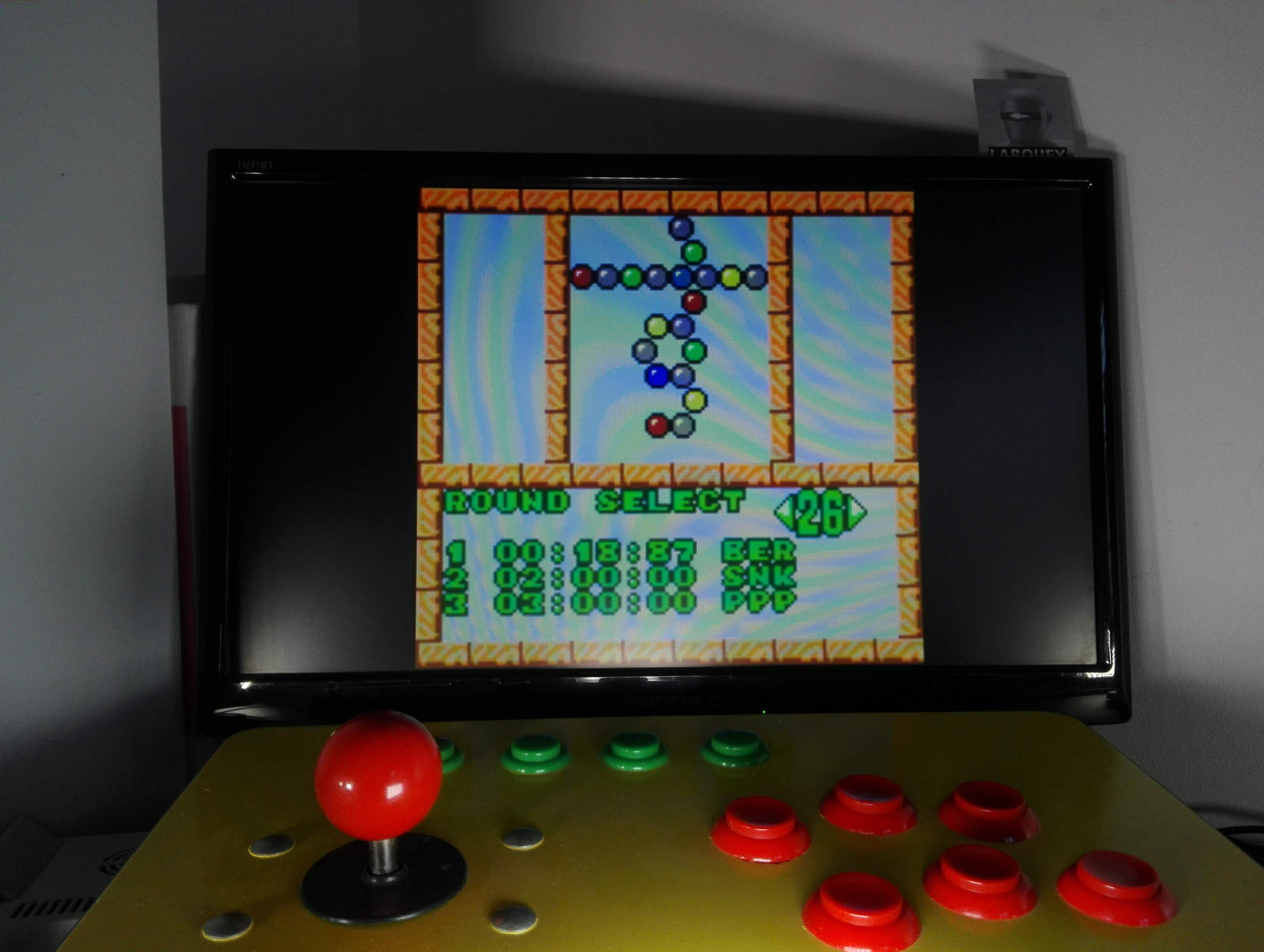 Larquey: Puzzle Bobble Mini: Puzzle [Round 26] (Neo Geo Pocket Color Emulated) 0:00:18.87 points on 2020-04-15 05:11:50