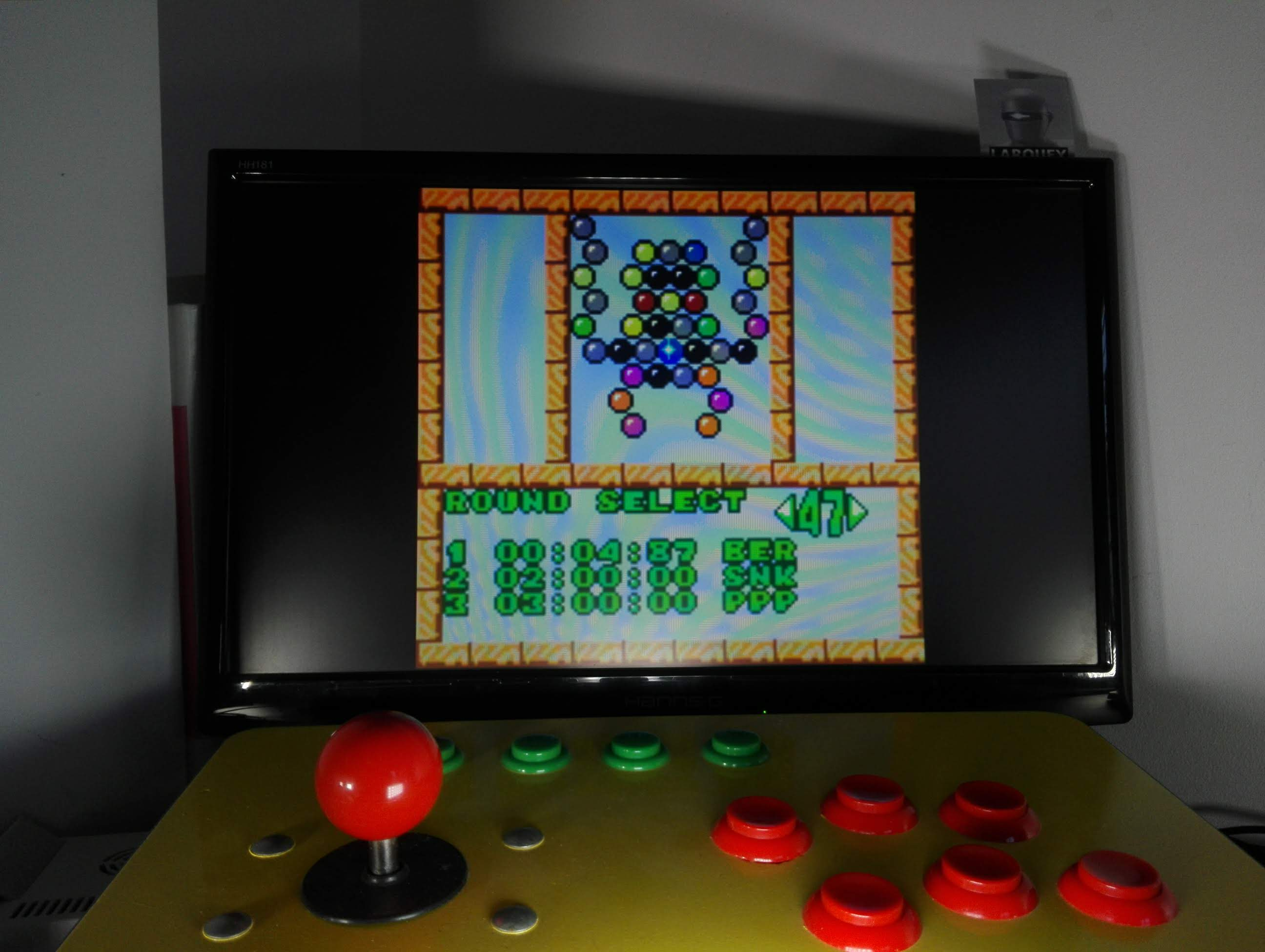 Larquey: Puzzle Bobble Mini: Puzzle [Round 47] (Neo Geo Pocket Color Emulated) 0:00:04.87 points on 2020-04-16 02:30:05