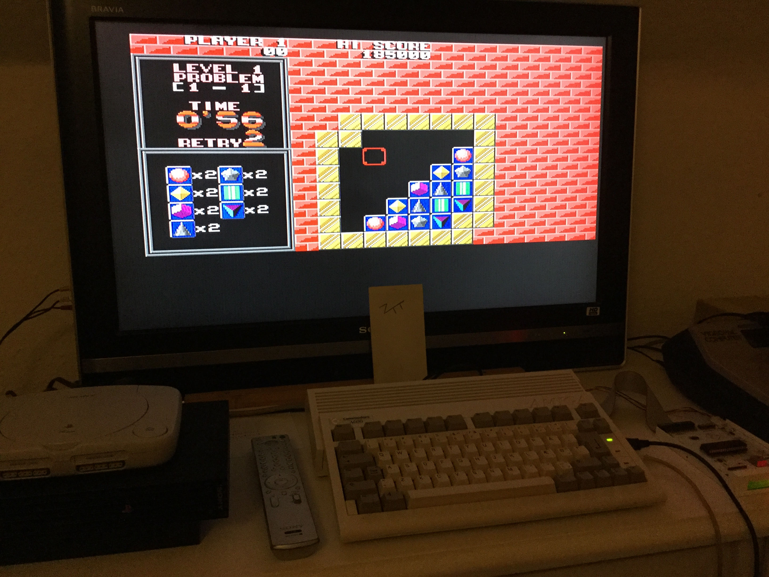 Frankie: Puzznic (Amiga) 185,000 points on 2018-12-23 12:37:36